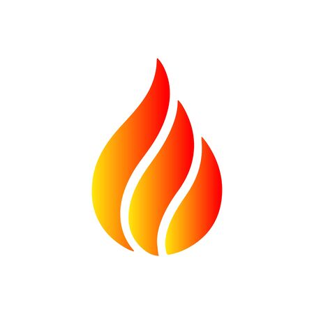 Beautiful fire. Vector illustration for design - for stock