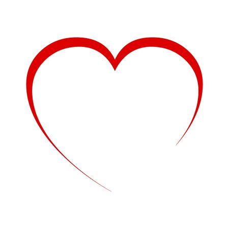Beautiful red heart - for stock