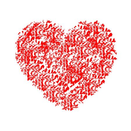 Drawn red heart - stock vector Stock Illustratie