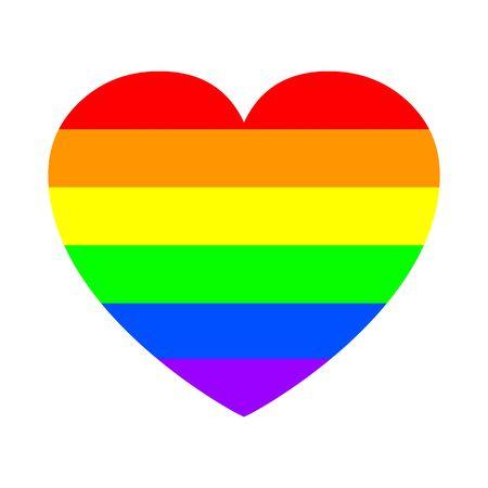 pride heart. pride concept - stock vector