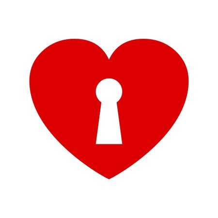Heart with keyhole - stock vector Stock Illustratie