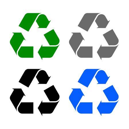 Set of arrow recycle - stock vector