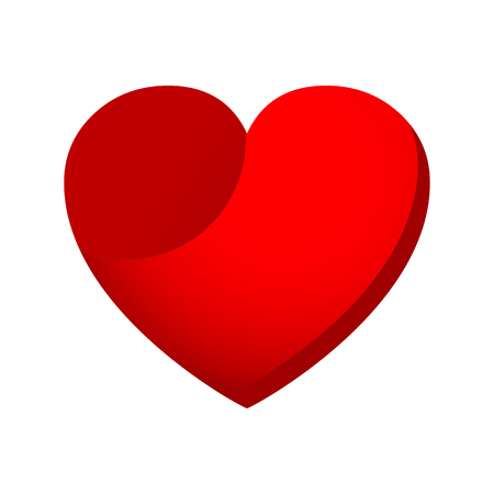 Beautiful red heart in 3D.