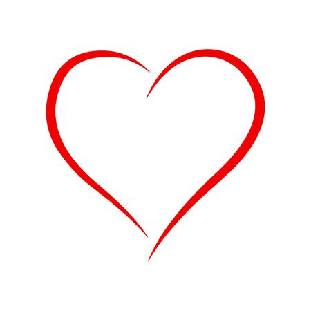 Beautiful red heart illustration.