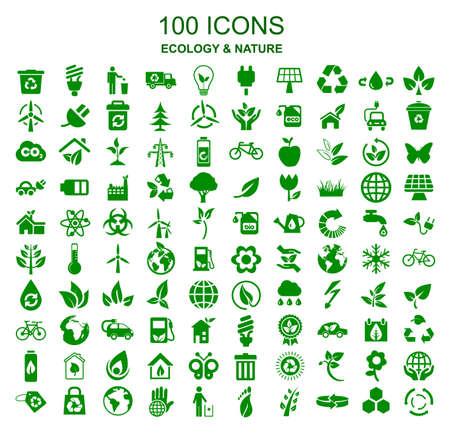 Set Ökologie Icons - Vektor
