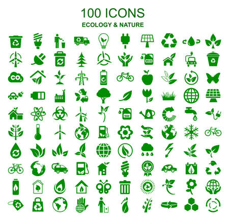 Set ecology icons - vector Stock Illustratie