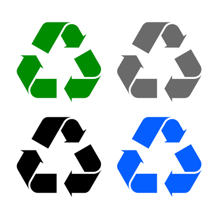 Set of arrows recycle icons - stock Vector illustration.