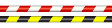 Warning line - stock Vector illustration.