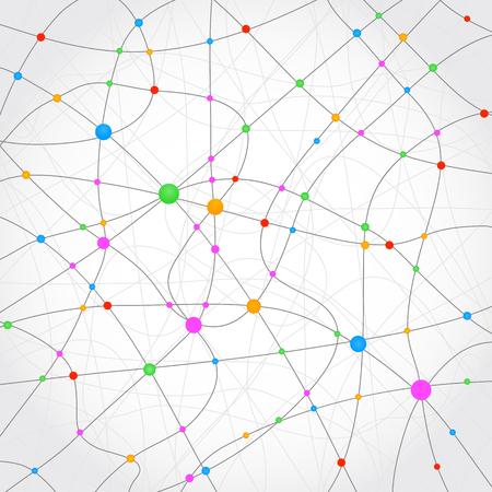 Neuron web background - stock vector