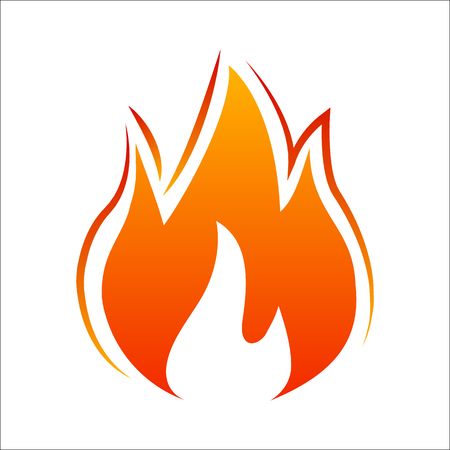 Three tongues of fire. Fire icon illustration