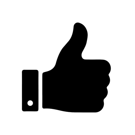 Thumb up, i like it, Yes - vector for stock 일러스트