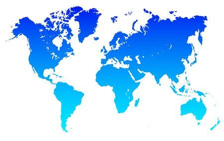 Blue World Map - stock vector Иллюстрация
