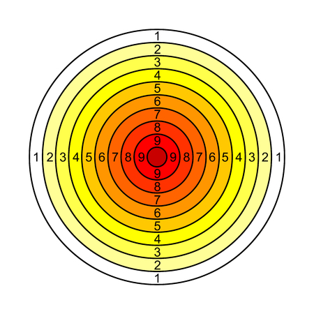 Yellow, red target - vector Illustration
