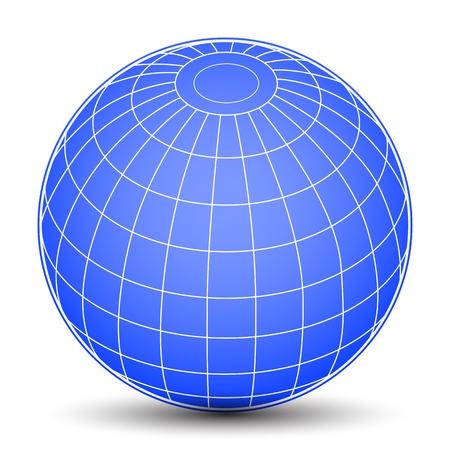 ブルーグローブ - ストックベクトル  イラスト・ベクター素材