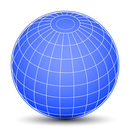 Blue globes - stock vector Иллюстрация