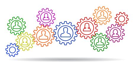 Concept teamwork, staff, partnership - stock vector