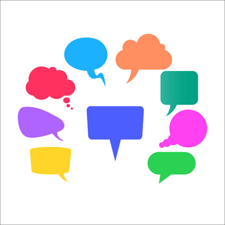 Icons communication - stock vector Vetores
