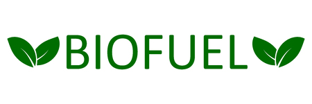 Logo biofuel with leaves Logo