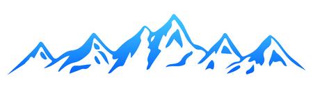 Silhouette mountain - stock vector