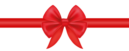 Gift decoration. Red ribbon - vector