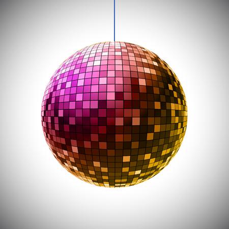 Disco ball - stock vector Иллюстрация