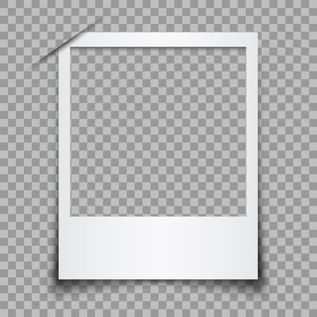 Empty white photo frame - stock vector