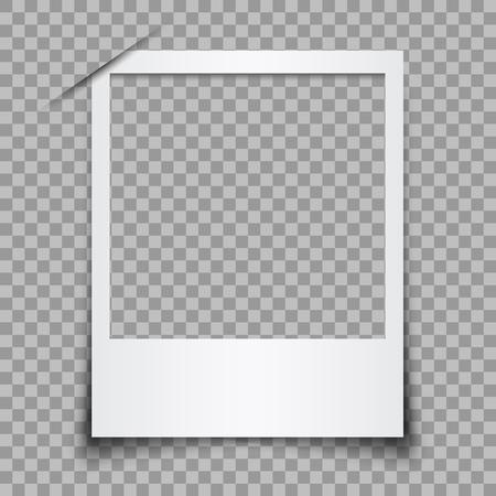 Empty white photo frame - stock vector