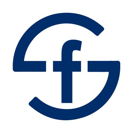 Letter F logo - vector