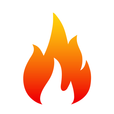 Flame, Four tongue fire Icon illustration logo