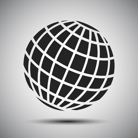 Black globes - stock vector