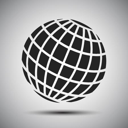Black globes - stock vector