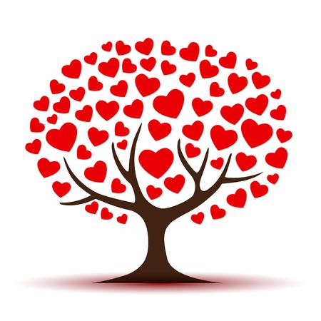 Love tree - vector for stock Иллюстрация