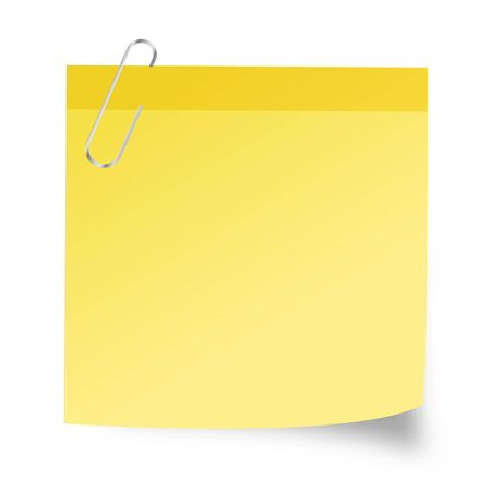 Yellow sticky paper - stock vector Stock Illustratie