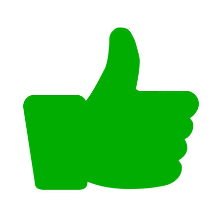 Thumb up, i like it, Yes icon - vector