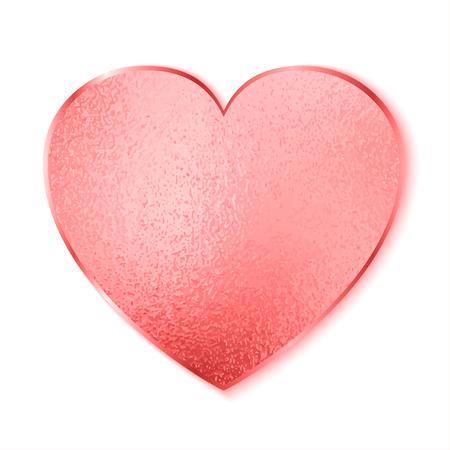 Red heart - stock vector Illustration