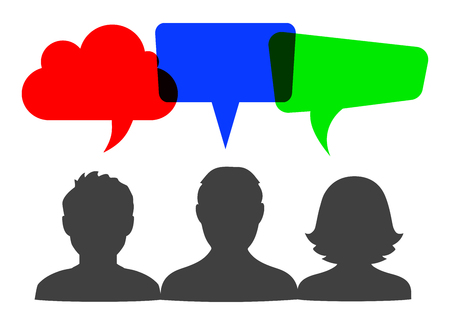 People speech, communication sign - vector