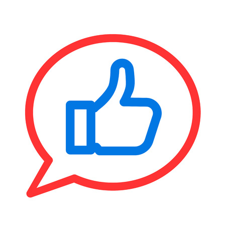 Thumb up, i like it, Yes, good - vector for stock