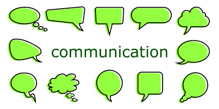 Set icons communication - vector