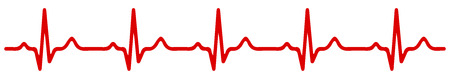 Heart pulse one line icon