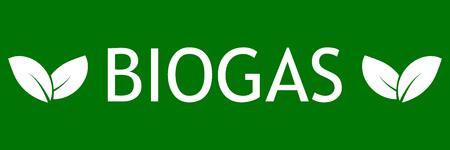 Symbol bio gas with leaves design Illustration