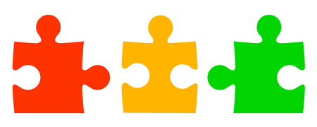 Colored puzzle piece icons
