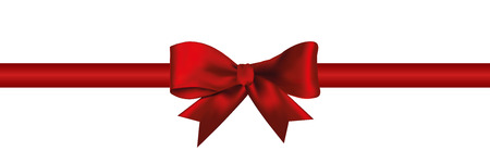 Gift decoration red ribbon icon Иллюстрация