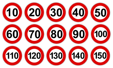 Set speed limit icon signs