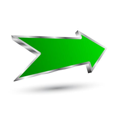 Green arrow right - stock vector Illustration