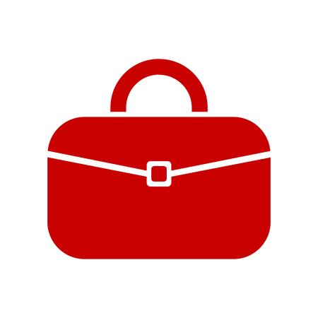 Briefcase vector icon. Portfolio simple solid icon - stock vector