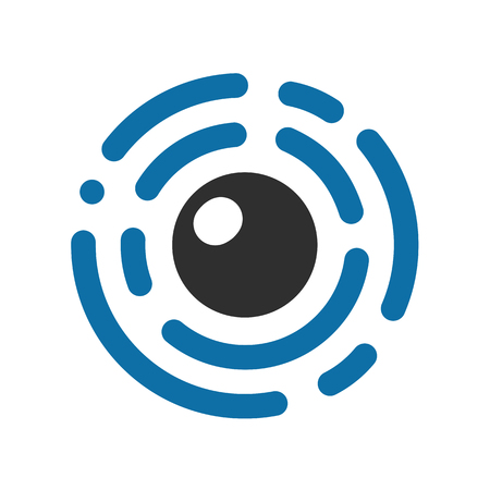 Eye cyber security icon - vector Illustration