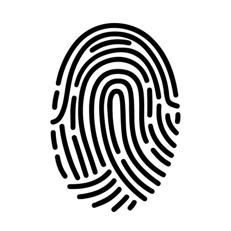 Fingerprint ID line art icon for apps with security unlock - for stock Banque d'images - 100582158