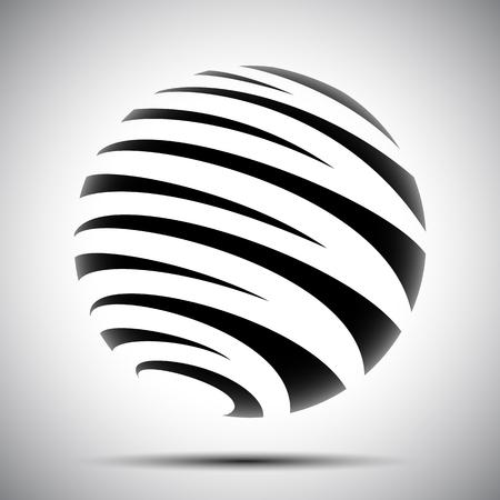 Black globes - vector for stock 矢量图像