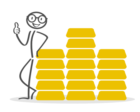 Gold, accumulation capital, savings Illustration