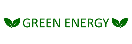 Logo green energy with leaves